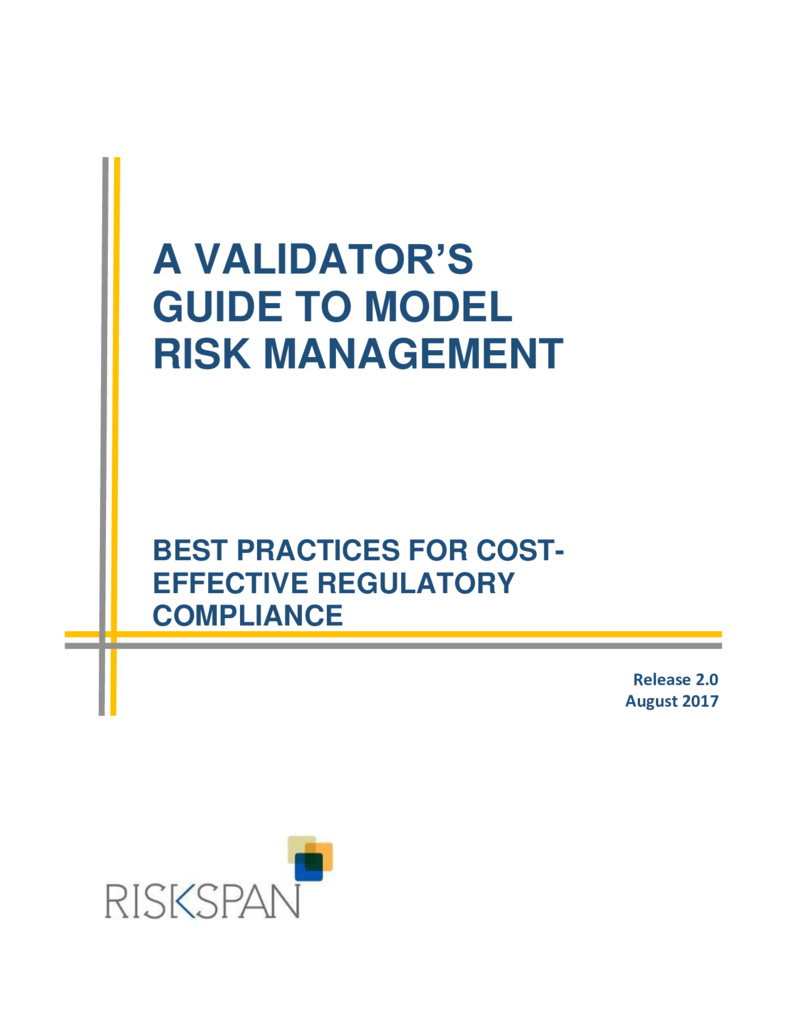 thumbnail of A Validator's Guide to Model Risk Management_RiskSpan Ebook